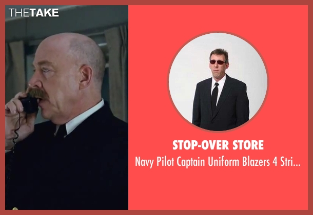 Stop-Over Store black stripes from Contraband seen with J.K. Simmons (Captain Camp)