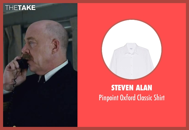 Steven Alan white shirt from Contraband seen with J.K. Simmons (Captain Camp)