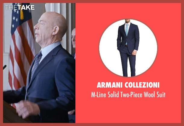 Armani Collezioni blue suit from The Accountant seen with J.K. Simmons (Ray King)