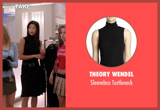 Theory Wendel black turtleneck from Mean Girls seen with Jo Chim (Salesperson)