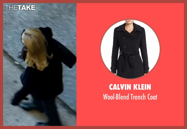 Calvin Klein black coat from The Bourne Ultimatum seen with Joan Allen (Pam Landy)