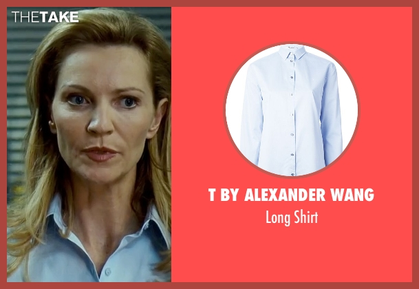 T By Alexander Wang blue shirt from The Bourne Ultimatum seen with Joan Allen (Pam Landy)