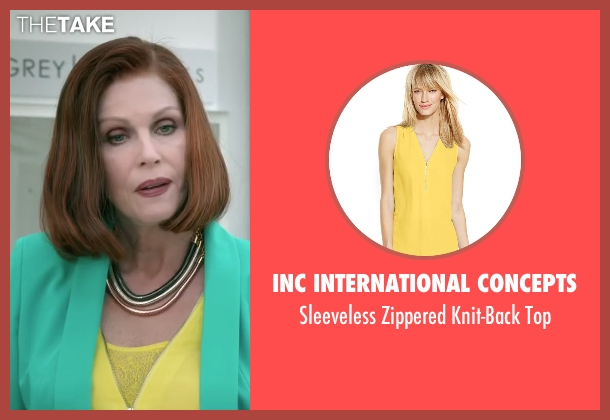 Inc International Concepts yellow top from Absolutely Anything seen with Joanna Lumley (Fenella)