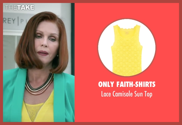 Only Faith-Shirts yellow top from Absolutely Anything seen with Joanna Lumley (Fenella)