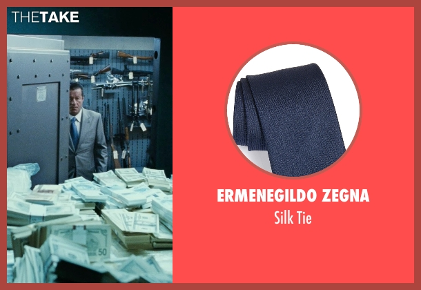 Ermenegildo Zegna blue tie from Fast Five seen with Joaquim de Almeida (Reyes)