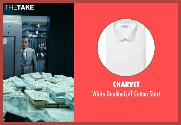 Charvet white shirt from Fast Five seen with Joaquim de Almeida (Reyes)
