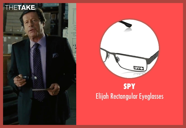 Spy black eyeglasses from Our Brand Is Crisis seen with Joaquim de Almeida (Pedro Gallo)