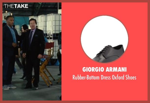 Giorgio Armani black shoes from Our Brand Is Crisis seen with Joaquim de Almeida (Pedro Gallo)