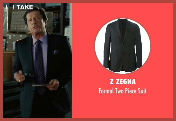 Z Zegna black suit from Our Brand Is Crisis seen with Joaquim de Almeida (Pedro Gallo)