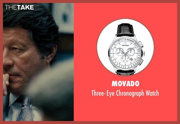 Movado black watch from Our Brand Is Crisis seen with Joaquim de Almeida (Pedro Gallo)