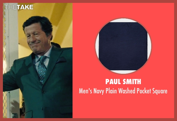 Paul Smith blue square from Our Brand Is Crisis seen with Joaquim de Almeida (Pedro Gallo)