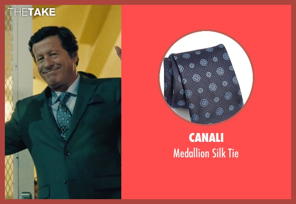 Canali blue tie from Our Brand Is Crisis seen with Joaquim de Almeida (Pedro Gallo)
