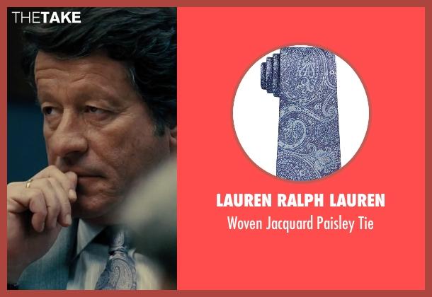 Lauren Ralph Lauren blue tie from Our Brand Is Crisis seen with Joaquim de Almeida (Pedro Gallo)
