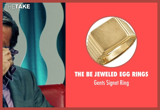 The Be Jeweled Egg Rings gold ring from Our Brand Is Crisis seen with Joaquim de Almeida (Pedro Gallo)
