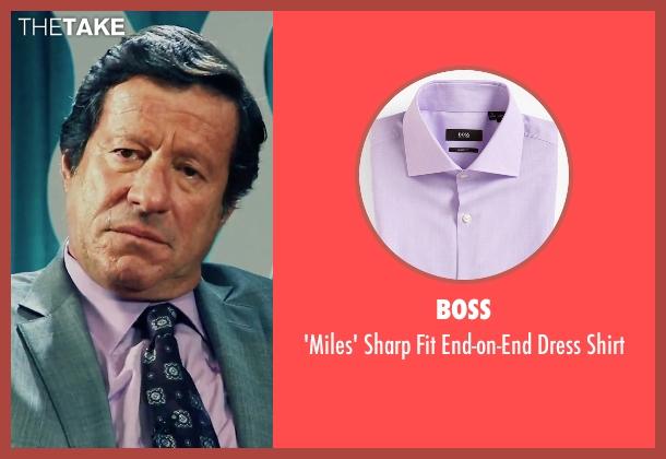Boss purple shirt from Our Brand Is Crisis seen with Joaquim de Almeida (Pedro Gallo)