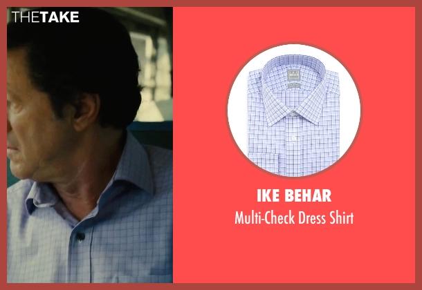 Ike Behar purple shirt from Our Brand Is Crisis seen with Joaquim de Almeida (Pedro Gallo)