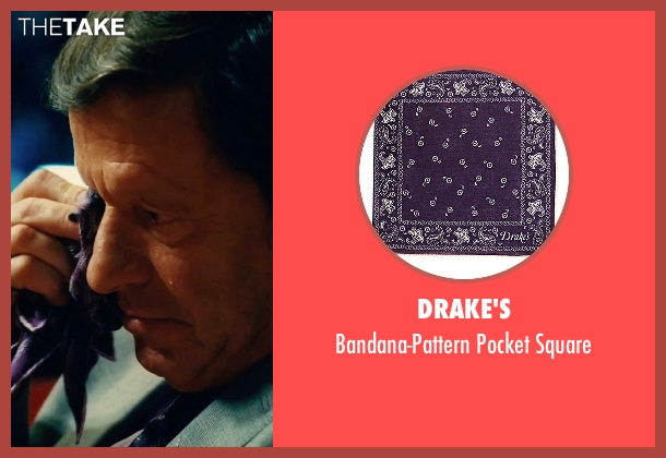 Drake's purple square from Our Brand Is Crisis seen with Joaquim de Almeida (Pedro Gallo)