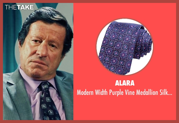 Alara purple tie from Our Brand Is Crisis seen with Joaquim de Almeida (Pedro Gallo)