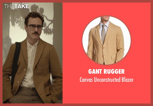 Gant Rugger beige blazer from Her seen with Joaquin Phoenix (Theodore Twombly)