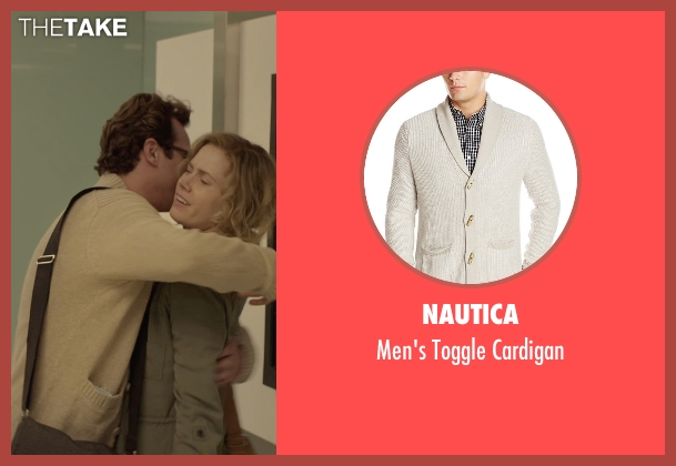 Nautica beige cardigan from Her seen with Joaquin Phoenix (Theodore Twombly)