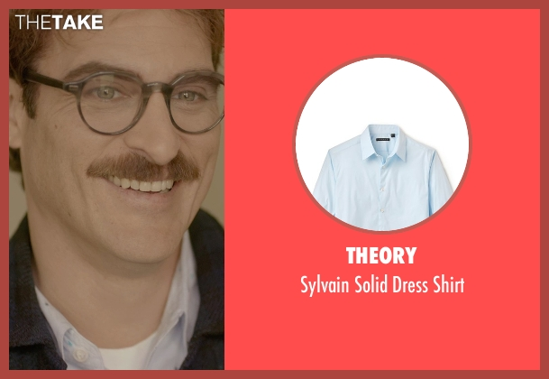 Theory blue shirt from Her seen with Joaquin Phoenix (Theodore Twombly)