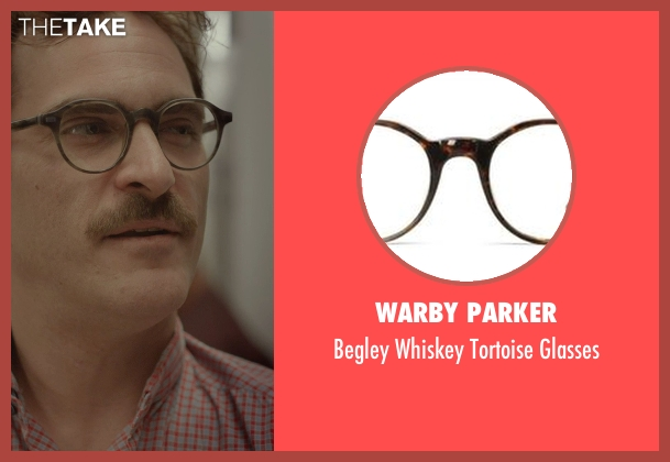 Warby Parker brown glasses from Her seen with Joaquin Phoenix (Theodore Twombly)