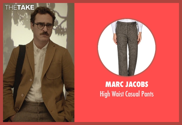 Marc Jacobs gray pants from Her seen with Joaquin Phoenix (Theodore Twombly)