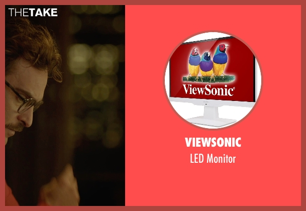 ViewSonic monitor from Her seen with Joaquin Phoenix (Theodore Twombly)