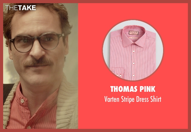 Thomas Pink pink shirt from Her seen with Joaquin Phoenix (Theodore Twombly)