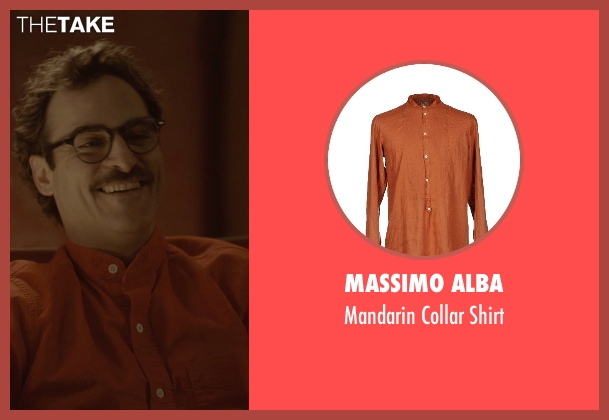 Massimo Alba red shirt from Her seen with Joaquin Phoenix (Theodore Twombly)