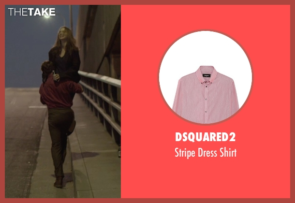 Dsquared2 red shirt from Her seen with Joaquin Phoenix (Theodore Twombly)