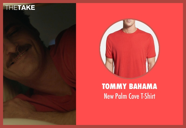 Tommy Bahama red t-shirt from Her seen with Joaquin Phoenix (Theodore Twombly)