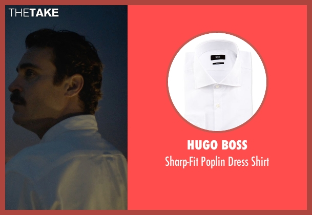 Hugo Boss white shirt from Her seen with Joaquin Phoenix (Theodore Twombly)