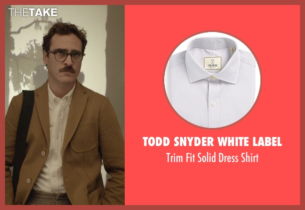 Todd Snyder White Label white shirt from Her seen with Joaquin Phoenix (Theodore Twombly)