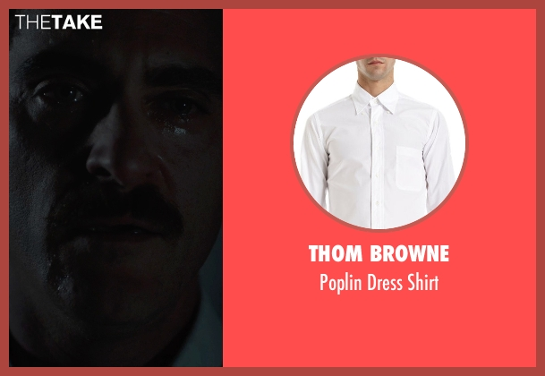 Thom Browne white shirt from Her seen with Joaquin Phoenix (Theodore Twombly)