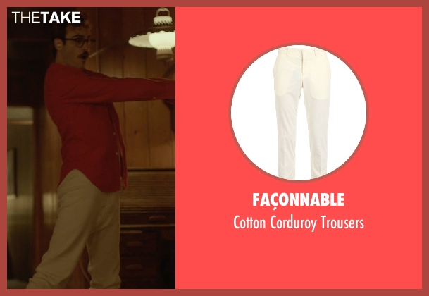 Façonnable white trousers from Her seen with Joaquin Phoenix (Theodore Twombly)