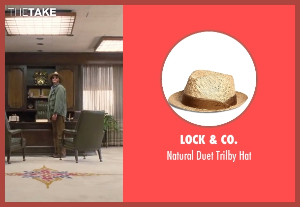 "Lock & Co. beige hat from Inherent Vice seen with Joaquin Phoenix (Larry ""Doc"" Sportello)"
