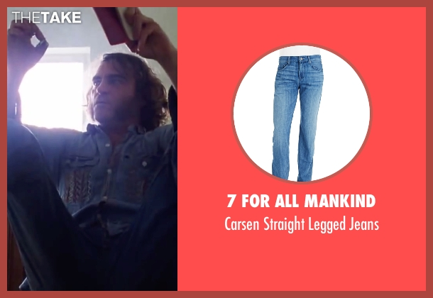 "7 For All Mankind blue jeans from Inherent Vice seen with Joaquin Phoenix (Larry ""Doc"" Sportello)"