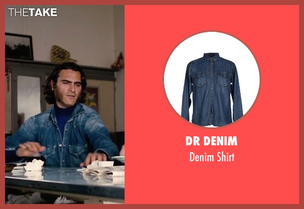 "Dr Denim blue shirt from Inherent Vice seen with Joaquin Phoenix (Larry ""Doc"" Sportello)"