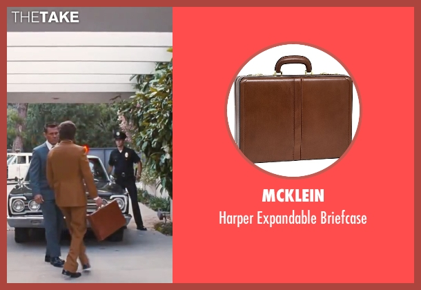 "Mcklein brown briefcase from Inherent Vice seen with Joaquin Phoenix (Larry ""Doc"" Sportello)"