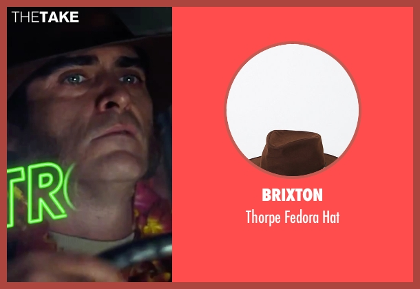 "Brixton brown hat from Inherent Vice seen with Joaquin Phoenix (Larry ""Doc"" Sportello)"