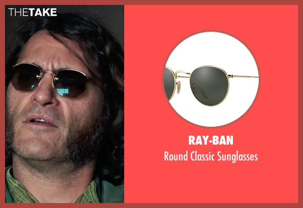 "Ray-Ban brown sunglasses from Inherent Vice seen with Joaquin Phoenix (Larry ""Doc"" Sportello)"