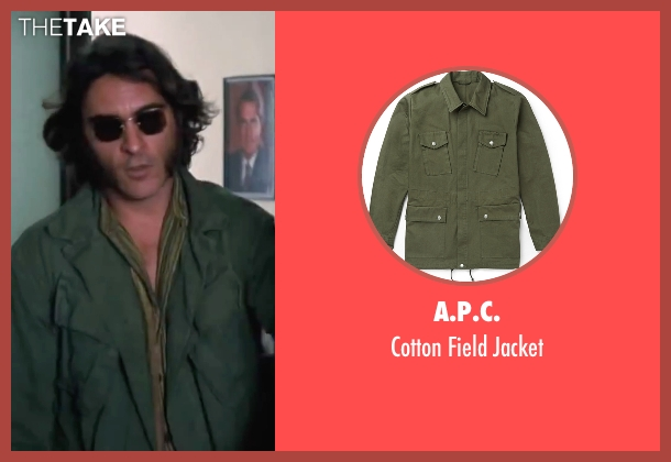 "A.P.C. green jacket from Inherent Vice seen with Joaquin Phoenix (Larry ""Doc"" Sportello)"