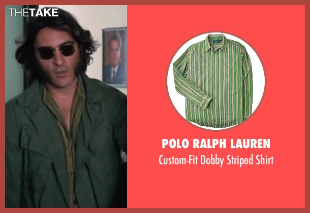 "Polo Ralph Lauren green shirt from Inherent Vice seen with Joaquin Phoenix (Larry ""Doc"" Sportello)"