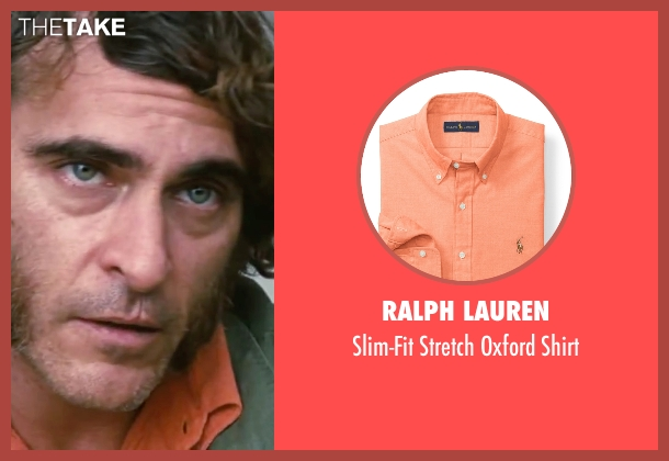 "Ralph Lauren orange shirt from Inherent Vice seen with Joaquin Phoenix (Larry ""Doc"" Sportello)"