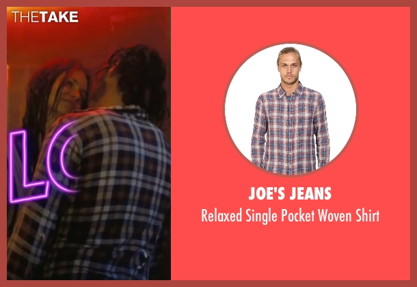 """Joe's Jeans red shirt from Inherent Vice seen with Joaquin Phoenix (Larry """"Doc"""" Sportello)"""