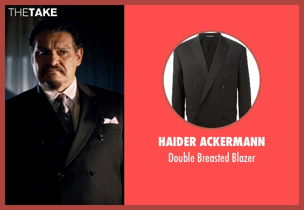 Haider Ackermann black blazer from Hot Pursuit seen with Joaquín Cosio (Vicente Cortez)