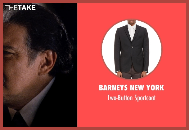 Barneys New York black sportcoat from Hot Pursuit seen with Joaquín Cosio (Vicente Cortez)