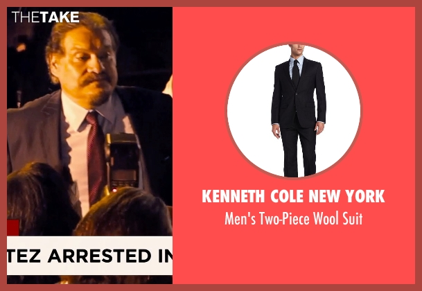 Kenneth Cole New York black suit from Hot Pursuit seen with Joaquín Cosio (Vicente Cortez)