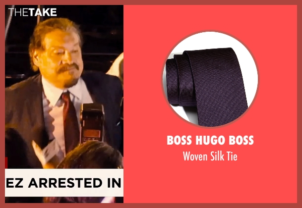 Boss Hugo Boss purple tie from Hot Pursuit seen with Joaquín Cosio (Vicente Cortez)
